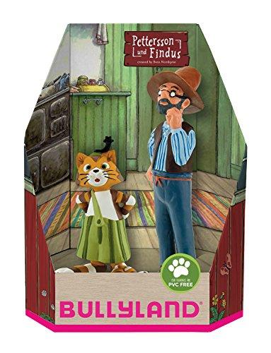 Bullyland 46005 - Spielfigurenset, Pettersson und Findus in Geschenk Box, 2 teilig, liebevoll handbemalte Figuren, PVC-frei, tolles Geschenk für Jungen und Mädchen zum fantasievollen Spielen