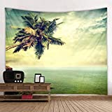 KHKJ Tapiz con Estampado de Cesta de árbol de Coco, Tapiz Hippie Barato para Colgar en la Pared, Tapiz de Pared, Mandala, decoración artística de Pared, A4 150x130cm