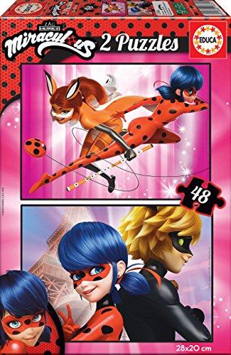 Educa Borrás- Prodigiosa: Las Aventuras De Ladybug Puzzle Miraculous, Multicolor (17635)