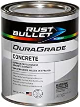Rust Bullet DuraGrade Concrete High-Performance Easy to Apply Concrete Coating in Vibrant Colors for Garage Floors, Basements, Porch, Patio and More.- (Quart, Slate Grey)