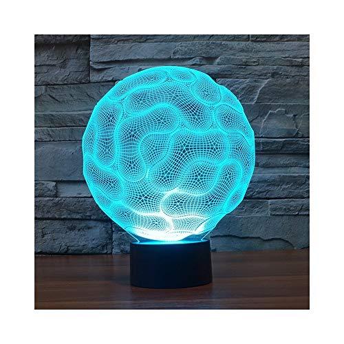 Illusion LED Fusion Ball Night Light Illusion Lampe Lampe de table de chevet, 7 couleurs changeantes Touch Switch Switch décoration de bureau lampes cadeau d'anniversaire de Noël avec acrylique plat e