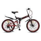 Axdwfd Infantiles Bicicletas Bicicleta De Suspensión Delantera De 22 Pulgadas, 7 Velocidades, Rojas, con Diseño Único (11-15 Años)