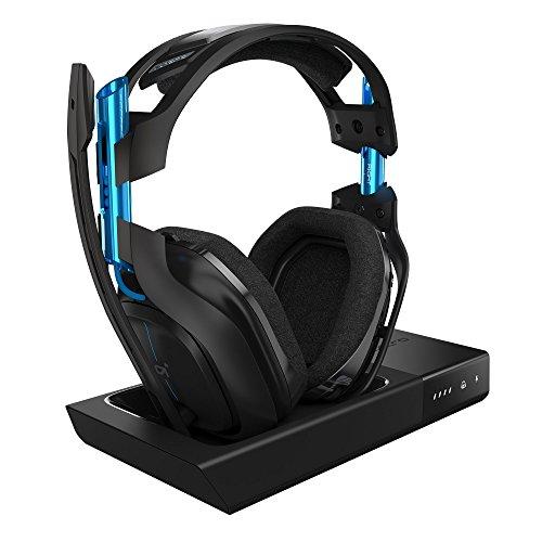 ASTRO Gaming, casque sans fil A50 + station d'accueil 3e Génération avec son surround Dolby 7.1 - Compatible Playstation 4, PC, Mac - Noir/Bleu (Reconditionné)