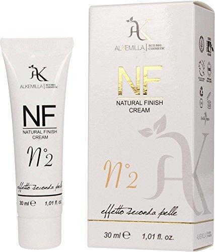 ALKEMILLA - BB Cream NF Natural Finish Cream - 02 - Fondotinta Bio con Effetto Seconda Pelle Naturale - Sia adatta al colore del viso - Vegan, Cruelty Free e Nickel Tested - 30 ml