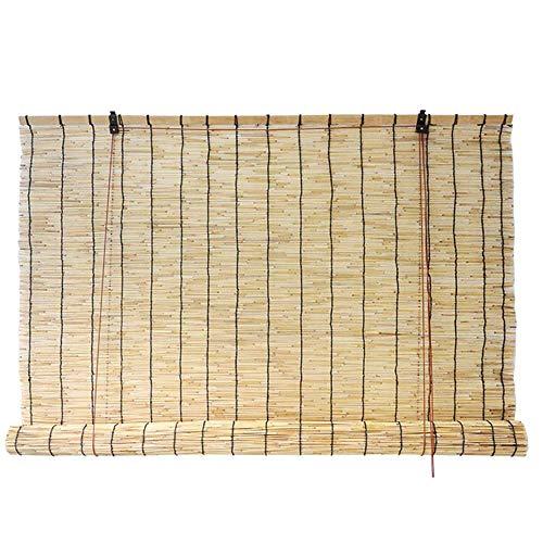 YUANP Persianas De Bambú | Persianas Enrollables | Terraza/Ventana/Exterior/Sombrilla | Tabique Suspendido | Filtro De Luz | Cualquier Tamaño,44cm*55cm