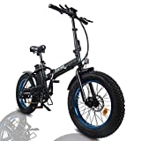 ECOTRIC Powerful Foldable Fat Tire Bike 48V 13AH Li-ion Battery 500W Motor 20' x4.0 inch Fat Tire...