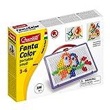 Quercetti 0924 Quercetti-0924 FC Portable Small Square, Kids' Mosaic Kits-STEAM Toy, Multicolor
