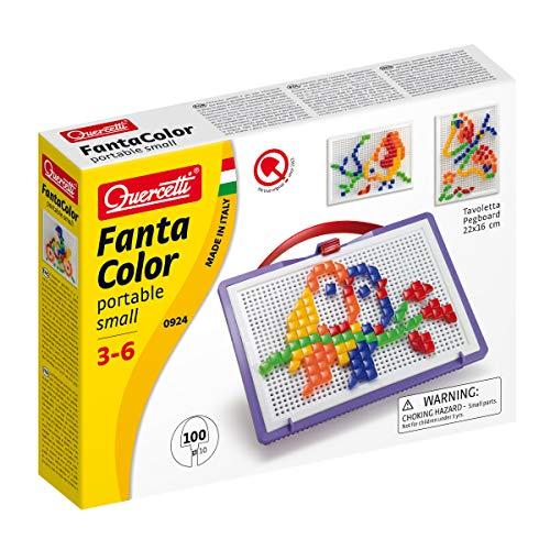 Quercetti Fantacolor Portable - 100 Nails Square and Triangle