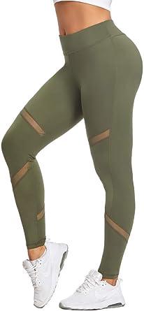 Joyshaper Damen Leggings Sport Tights Atmungsaktive Mesh Yoga-Fitness Hose Hohe Taille Sporthose