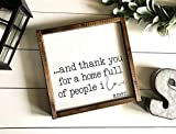 St234tyet Signo de casa de campo y agradecimiento por un hogar lleno de gente que me encanta, parte superior fijador, casa de campo moderna, casa llena de gente con amor Amen
