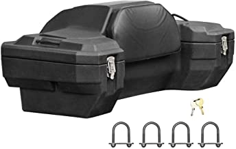 Rage Powersports Lockable Hard Sided Rear ATV Storage Box with a Comfortable Padded Backrest