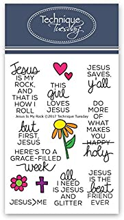 Jesus is My Rock Clear Stamps | Stamps Christian | Clear Rubber Stamps | Photopolymer Stamps | Card Making Supplies
