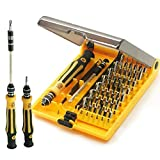45 in 1 Professional Portable Opening Tool Compact Screwdriver Kit DYI Set with Tweezers & Extension Shaft for Precise Repair or Maintenance