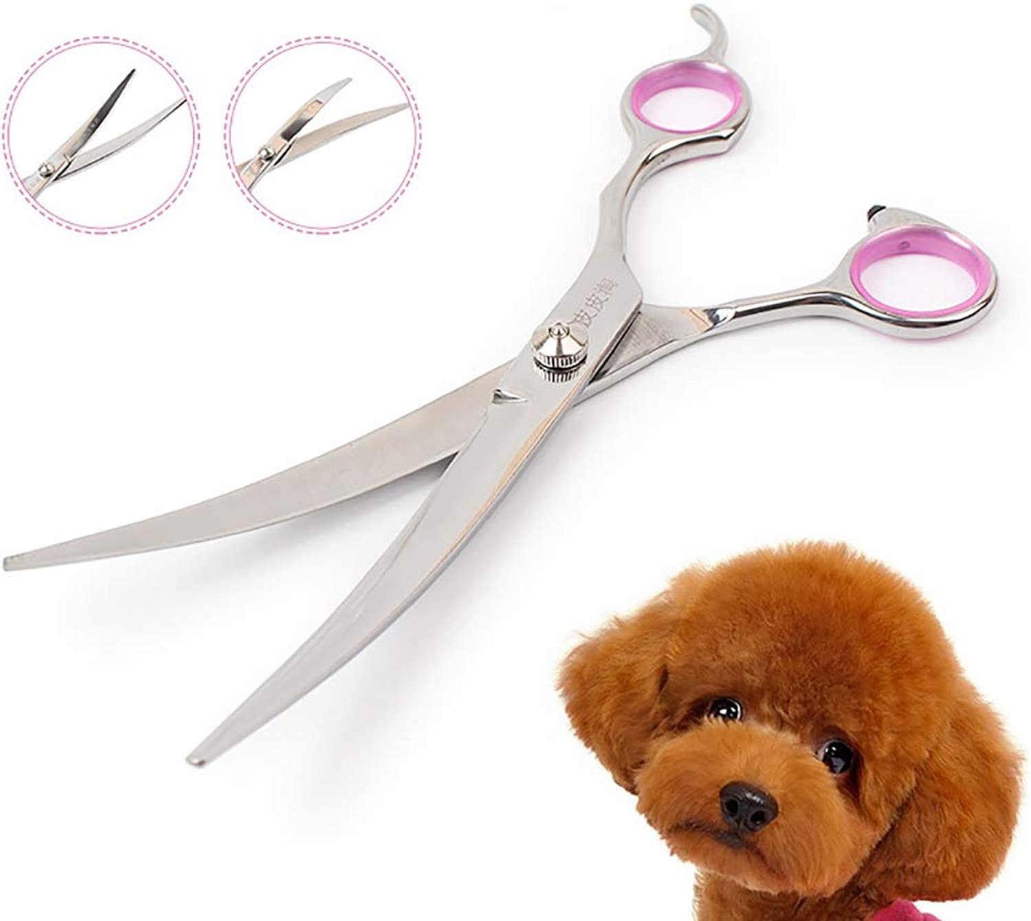 2PCS Professional Dog Grooming Scissors Stainless Steel Personality Design Cat Grooming Scissors Pet Grooming kit