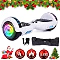 "SISIGAD Hoverboard 6.5"" Self Balancing Scooter with Colorful LED Wheels Lights Two-Wheels self Balancing Hoverboard Dual Motors Hover Board UL2272 Certified"