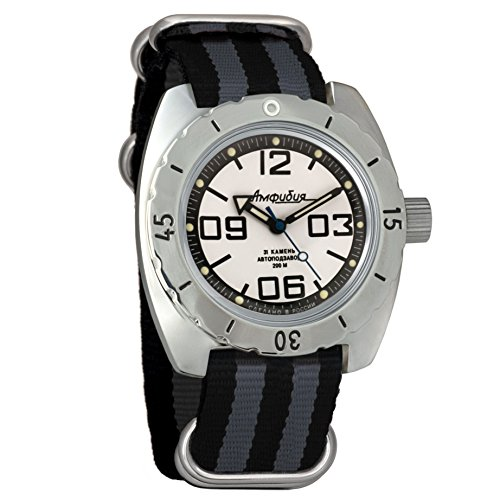 Vostok 150816 Amphibian - Reloj de Pulsera automático para Hombre, con Correa