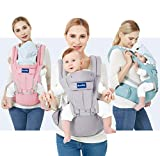 BabyPro Baby Carrier with Hip Seat, 9 Ergonomic Positions, All Season Baby Sling...