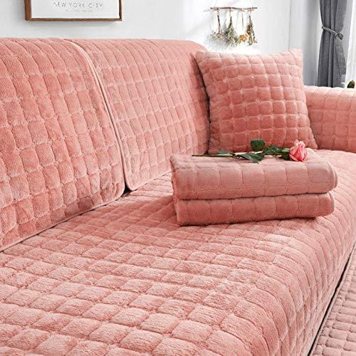 HXTSWGS Funda de sofá de Felpa de Invierno para Sala de Estar, Toalla de sofá, Estilo Europeo, Antideslizante, cálida, Funda de sofá, Fundas de cojín de Esquina para sofá-03_W90xL160cm
