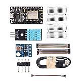 Meijin Módulo inteligente ESP8266 Kit de estación meteorológica con sensor de luz de presión atmosfética de humedad de temperatura 0,96 pantalla para Arduino IDE IoT Starter