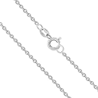 Sterling Silver 1mm Cable Chain, 14