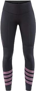 Craft Sportswear Women's Urban Run Running and Training Fitness Workout Wide Waistband Reflective Long Tights