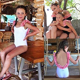 BEESCLOVER Princess Kids Baby Girls Flower Halter Swimwear Swimsuit Bikini Set Bathing Suit Size 3-7T