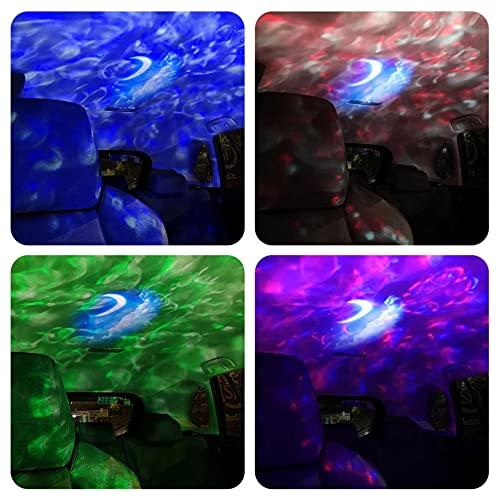 Proyector Usb Atmósfera Led Luces Nocturnas Estrella Galaxy Proyector Lámpara Hogar Cafetería Fondo Decoración De Pared Lámpara Colorida