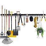 Garage Hooks Tool Organizer Wall Mount, 64 Inch Adjustable Storage System, Garden Tool Organizer for...