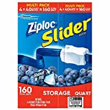 Product of Ziploc Slider Storage Bags, Quart Size, 160 ct. - Food Storage Bags & Containers [Bulk Savings]