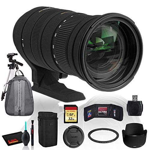 Price comparison product image Sigma 50-500mm f / 4.5-6.3 APO DG OS HSM Lens for Sony / Minolta with Cleaning Kit,  Tripod,  32GB Memory,  and Padded Backpack