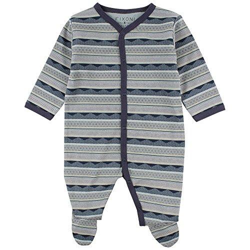 Fixoni Free Nightsuit - oekotex Pyjama, Bleu (30-09 Lead 30-09 Lead), 68 cm Bébé garçon