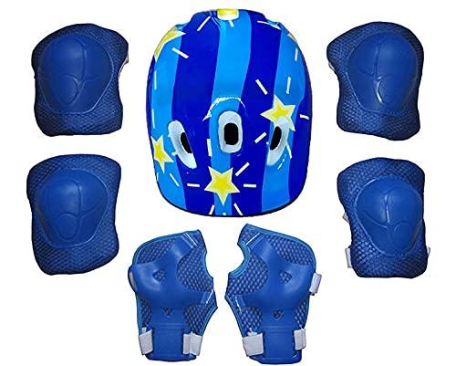 QTQZ Juego de Equipo de protección para Deportes para niños Adultos Almohadilla de Seguridad Safeguard (Casco, Rodilla, Codo, muñeca), Bicicleta, monopatín, Hoverboard y Otras Actividades deporti
