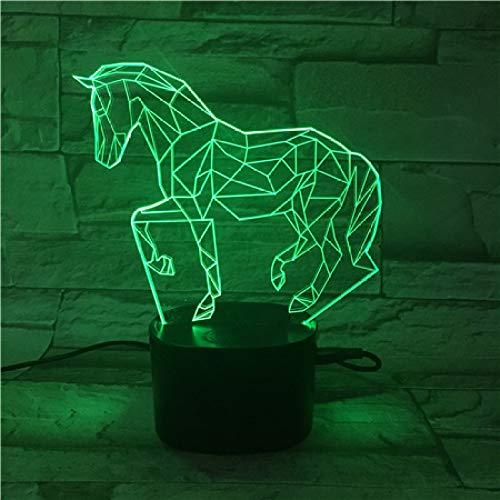 3D Acryl Pferd Bluetooth Dock Touch Control Home Dekoration Led Nachtlicht