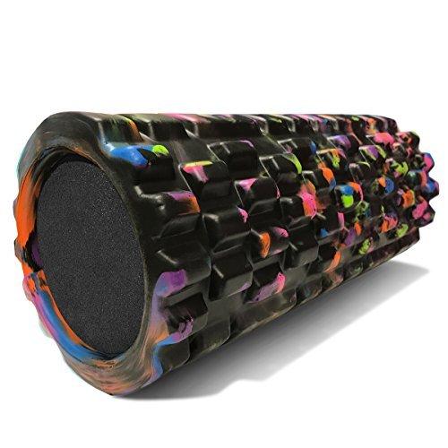 321 STRONG Foam Roller - Medium Density Deep Tissue Massager - Muscle Massage + Myofascial Trigger Point Release - Includes 4K eBook - Aurora