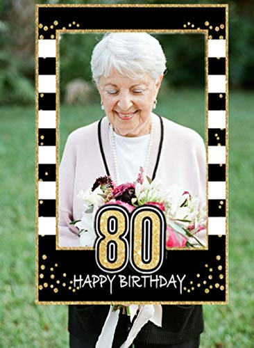 80th Birthday Party Photo Booth Frame