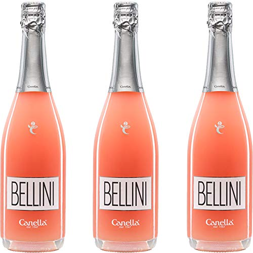 Bellini | Cannella | Cocktail di Venezia | La Dolce Vita Italiana | 3 Bottiglie 75Cl | Spumante Brut...