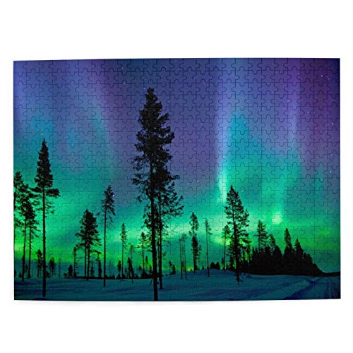 KPZ Northern Lights Aurora Borealis 500 Pieces Jigsaw Puzzle for Adults Teens, Boredom Buster...