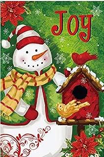 GiftWrap Etc. Christmas Joy Snowman Garden Flag - 12