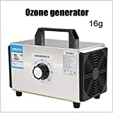 MOKY Generador de ozono purificador de Aire Industrial, Comfort Acero Inoxidable Profesional Ozonador Desodorante y esterilizador -16g