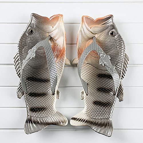 LYUHFGB Los Deslizadores del Verano, Creativo Pescado Chancletas de Elementos primarios y Secundarios Playa de los Deslizadores de los Zapatos Ocasionales de los Deslizadores de los Pescados,G,23