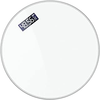 non-branded Báscula de Peso Corporal Digital con Pantalla LCD Báscula de Baño de Precisión con Tecnología Step-On Cinta Métrica Corporal Incluida Carga USB Blanco