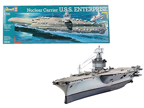 Revell- Nuclear Carrier U.S.S. Enterprise Maqueta Portaaviones, 10+ Años (05046)