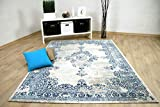 interiortrend Pop Vintage - Tapis Designer - Oriental Bleu Crème - 4 Tailles