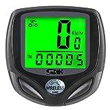 LZIWEI Fahrradcomputer, kabellos Fahrrad Tacho Kilometerzähler Geschwindigkeitsmesser Wasserdicht Radcomputer Tachometer mit LCD Display für Radsport Realtime Geschwindigkeit und Distanz Track