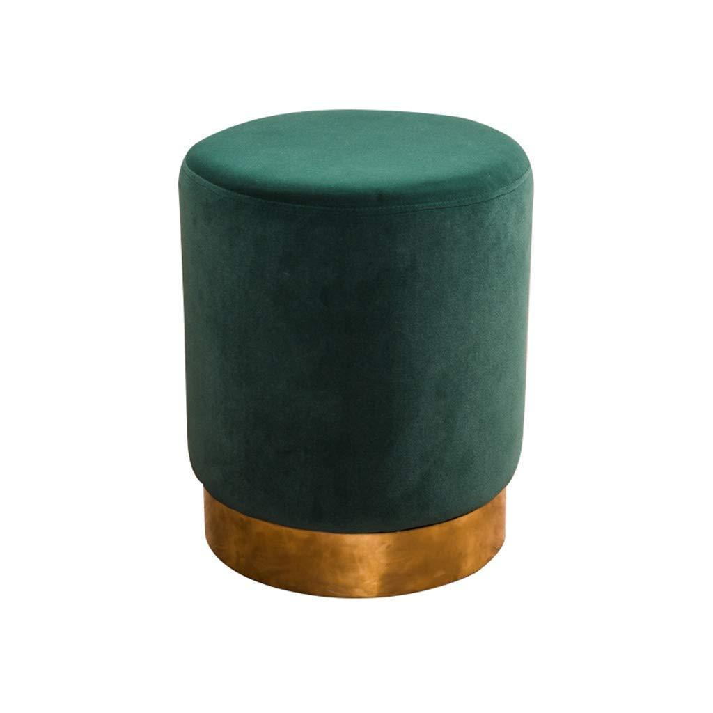 CapitanCasa Pouf Arredo Design Rotondo in Velluto Colore Tortora