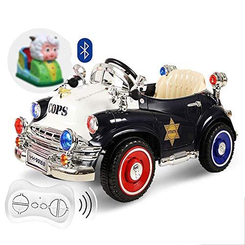 Allrad Retro Elektroauto Kinderschaukel Kinderwagen Polizeiauto Fernbedienung Auto Baby Auto kann sitzen Menschen Oldtimer Fahrt auf Fahrzeugen Junge Mädchen Schaukel RC Kind Spielzeugauto Geschenk