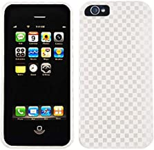 Cell Armor Snap-On Case for iPhone 5 - Retail Packaging - 3D Embossed Gray/White Checkers