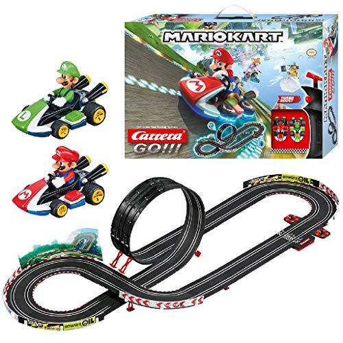 Carrera Toys GO!!! Mario Kart Mach 8 Set Pista da Corsa e Due Macchinine con Mario e Luigi, Gioco Adatto per Bambini dai 6 Anni, Multicolore, 20062491
