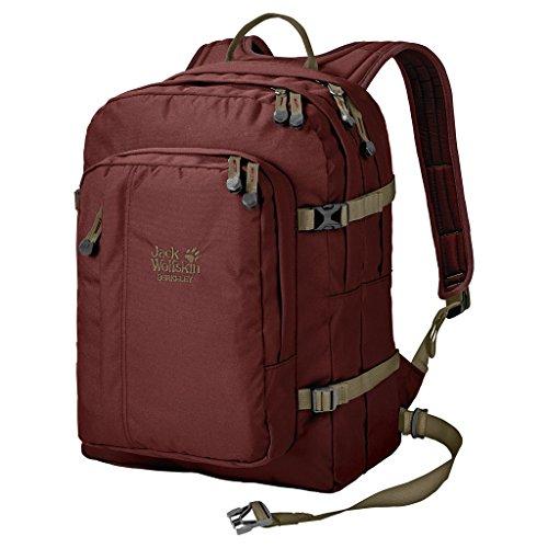Jack Wolfskin Unisex Berkeley Bookpack Daypack Rucksack, Redwood, 45x37x3 cm