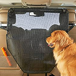 Mesh vehicle pet barrier